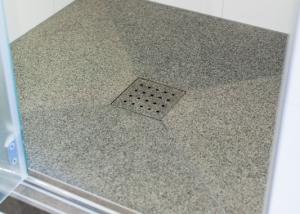 Dusche Bodenablauf Wasserstrahlschneidetechnik