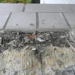 Fliesen Schaden im Außenbereich